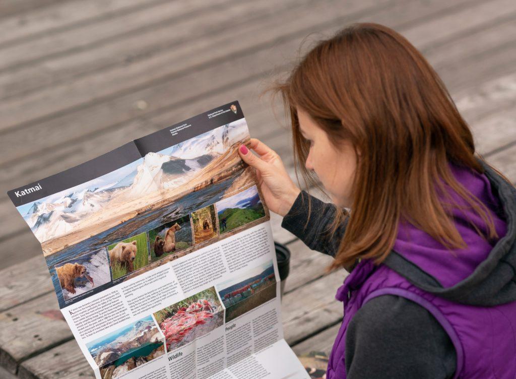 буклет Национального парка Катмай, Аляска