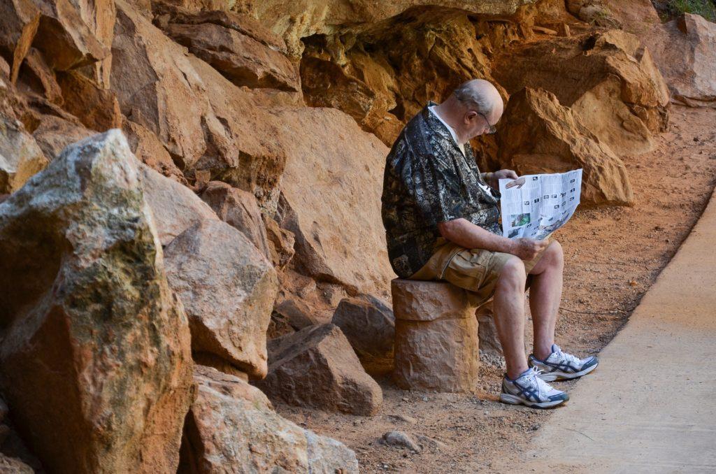 Национальные парки США: человек с картой, Зайон