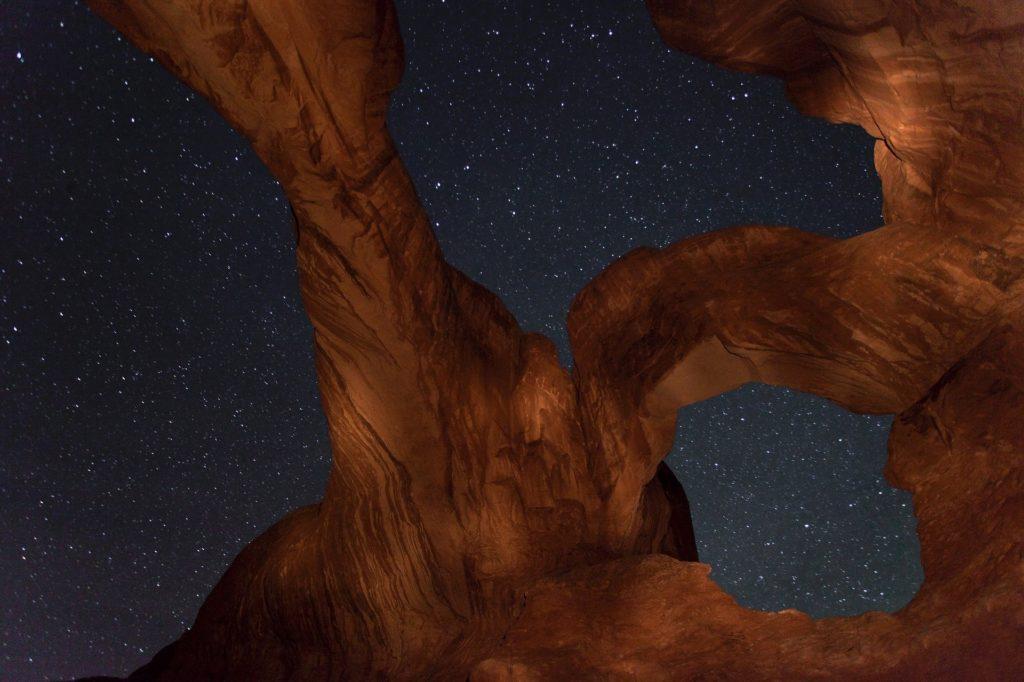 Национальный парк Арки. Звездное небо.