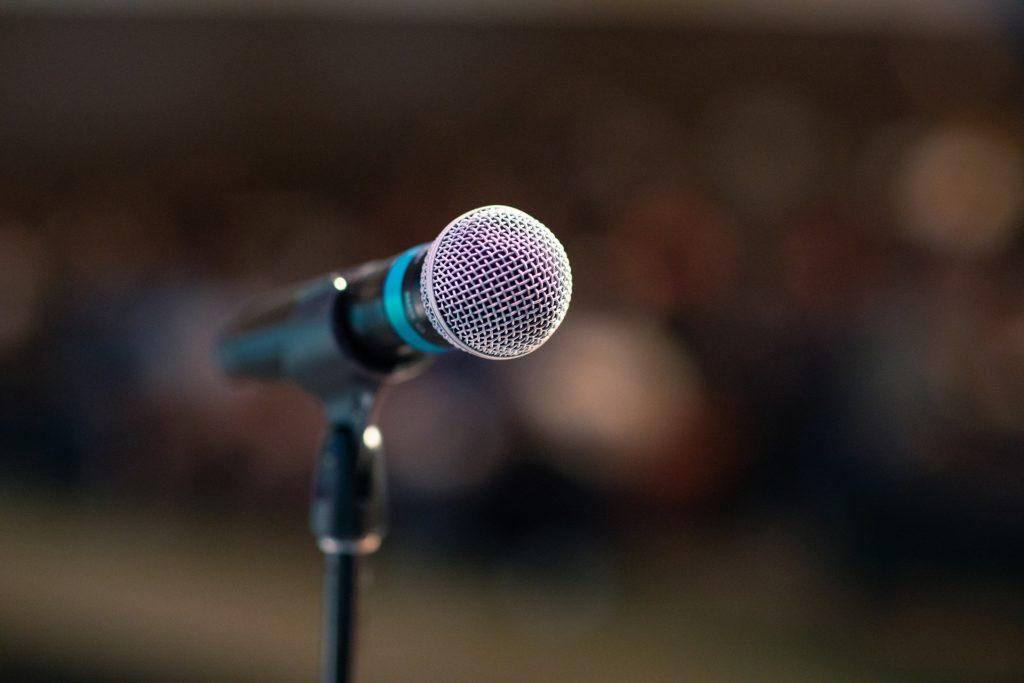 публичные выступления, микрофон